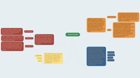 Mind Map: YOUTH CULTURE