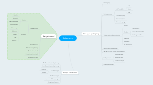 Mind Map: Budgettering