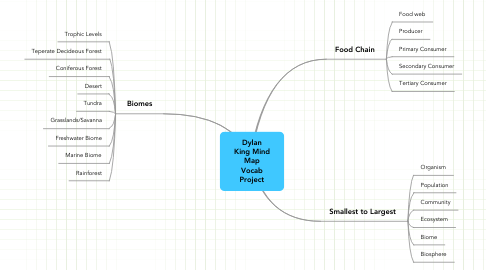 Mind Map: Dylan King Mind Map Vocab Project