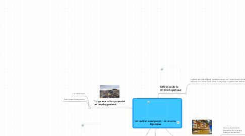 Mind Map: Un métier émergeant :  La reverselogistique