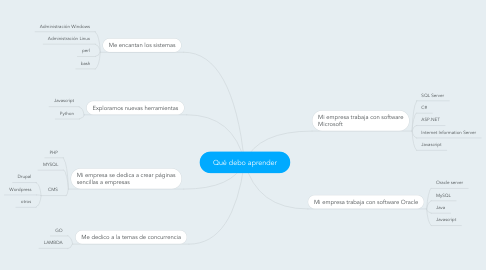 Mind Map: Qué debo aprender