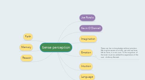 Mind Map: Sense perception