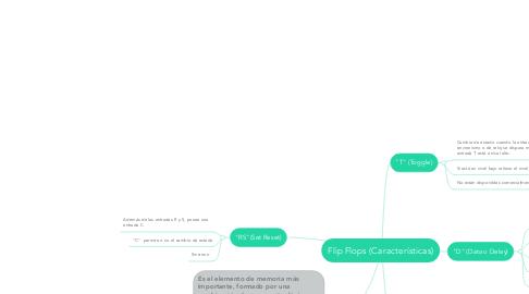 Mind Map: Flip Flops (Características)