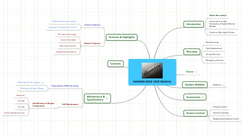 Mind Map: MARINER-BENZ USER MANUAL