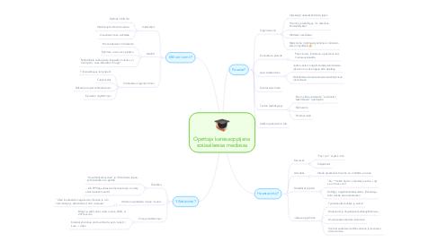 Mind Map: Opettaja kanssaoppijana  sosiaalisessa mediassa