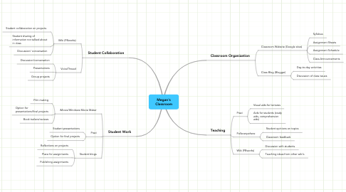 Mind Map: Megan's Classroom