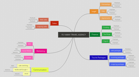 Mind Map: FLY AWAY TRAVEL AGENCY