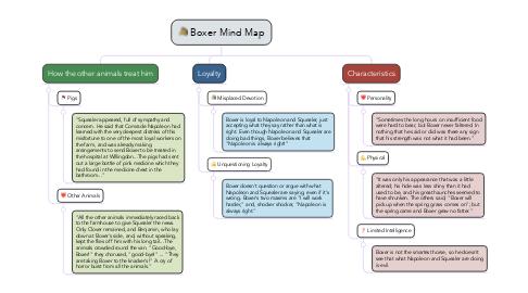 Mind Map: Boxer Mind Map