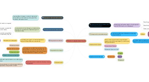 Mind Map: Prótesis en amputaciones de pies