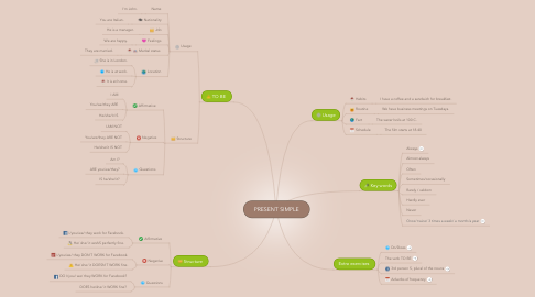Mind Map: PRESENT SIMPLE