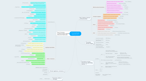 Mind Map: Poursuites Etudes après DUT GLT