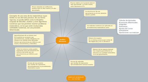 Mind Map: Análisis Númerico