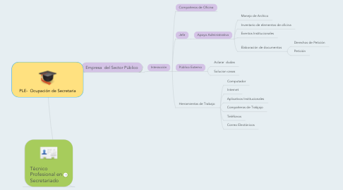 Mind Map: PLE- Ocupación de Secretaria