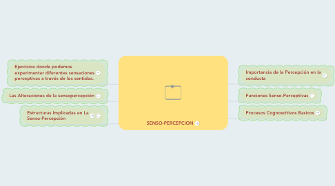 Mind Map: SENSO-PERCEPCION
