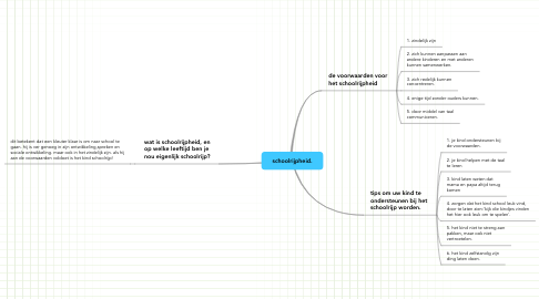 Mind Map: schoolrijpheid.