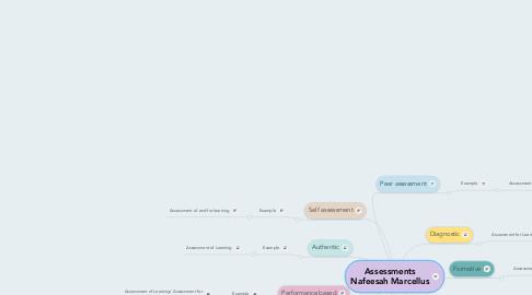 Mind Map: Assessments Nafeesah Marcellus