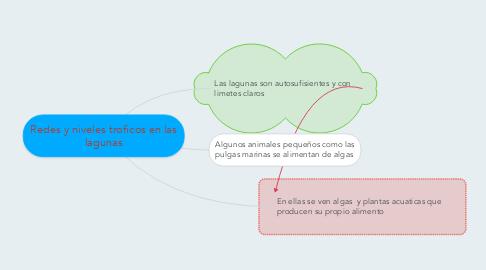 Mind Map: Redes y niveles troficos en las lagunas