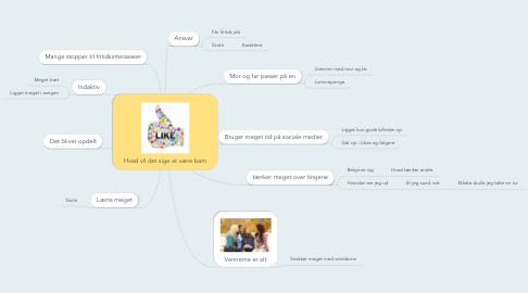 Mind Map: Hvad vil det sige at være barn