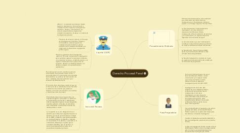 Mind Map: Derecho Procesal Penal
