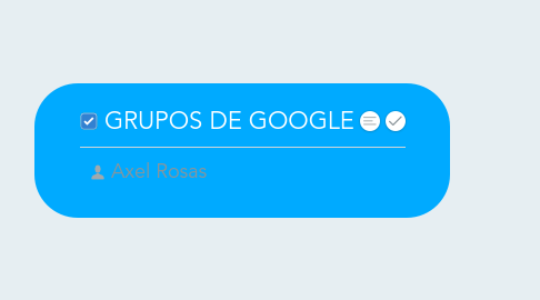 Mind Map: GRUPOS DE GOOGLE