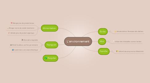 Mind Map: L'environnement