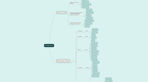 Mind Map: Zoologia Geral
