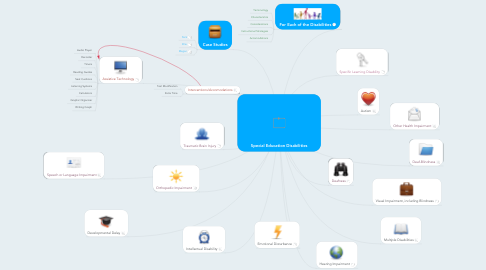 Mind Map: Special Education Disabilities