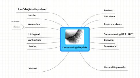 Mind Map: Leerervaring die plakt