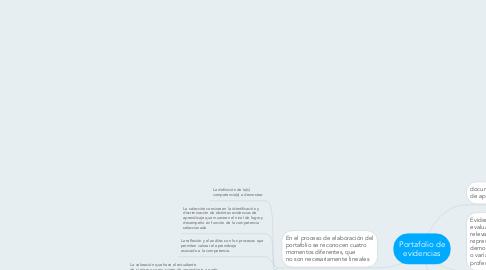 Mind Map: Portafolio de evidencias