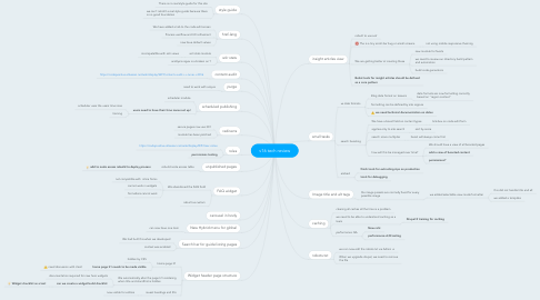 Mind Map: v16 tech review