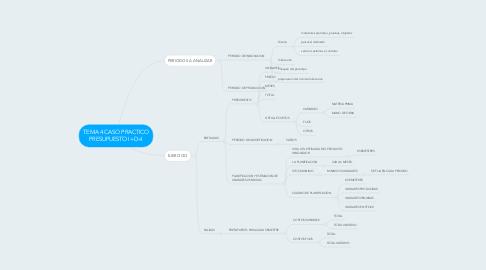Mind Map: TEMA 4 CASO PRACTICO PRESUPUESTO I+D+I