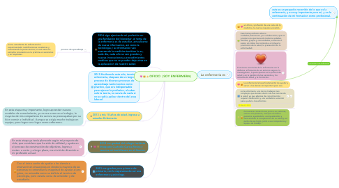 Mind Map: OFICIO (SOY ENFERMERA)