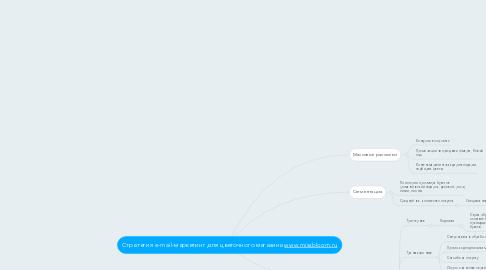 Mind Map: Стратегия e-mail-маркетинг для цветочного магазинаwww.missbloom.ru