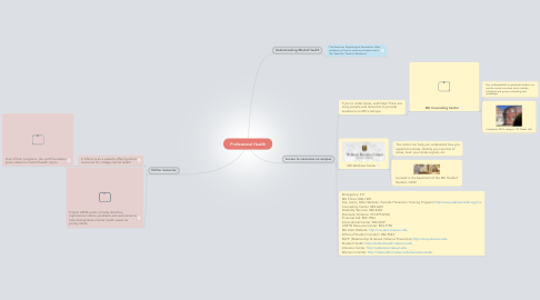 Mind Map: Professional Health