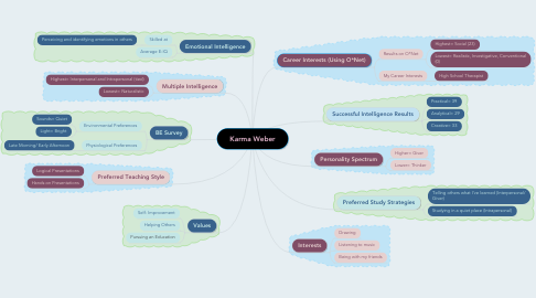 Mind Map: Karma Weber