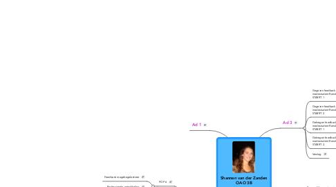 Mind Map: Shannen van der Zanden OAO 3B