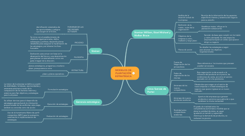 Mind Map: MODELOS DE PLANTACIÓN ESTRATÉGICA