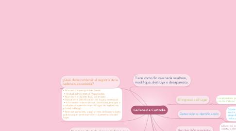 Mind Map: Cadena de Custodia