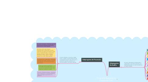 Mind Map: Programa Nacional de Protección Civil.