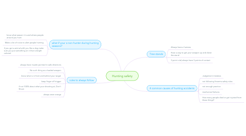 Mind Map: Hunting safety