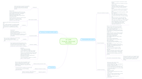 Mind Map: ST1 CH20 Pricing (4) - Options and Guarantees