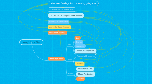 Mind Map: Wesly's Carrer Plan