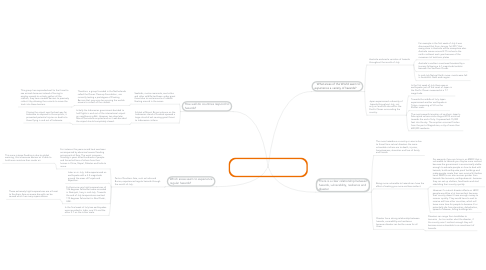 Mind Map: In what ways is there a relationship between hazards, vulnerability, resilience and disaster?