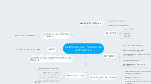 Mind Map: LIDERAZGO CENTRADO EN EL APRENDIZAJE