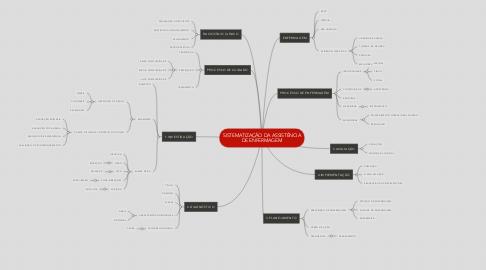 Mind Map: SISTEMATIZAÇÃO DA ASSISTÊNCIA DE ENFERMAGEM
