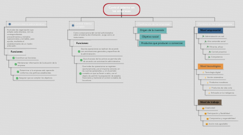 Mind Map: Control interno en las empresas