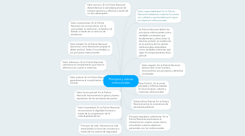 Mind Map: Principios y valores institucionales