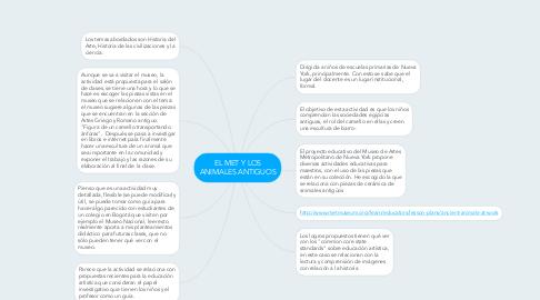 Mind Map: EL MET Y LOS ANIMALES ANTIGUOS