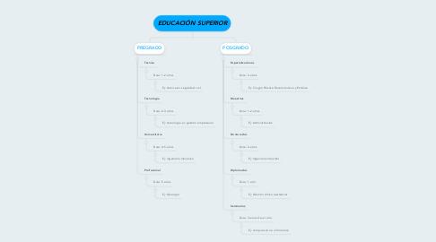 Mind Map: EDUCACIÓN SUPERIOR