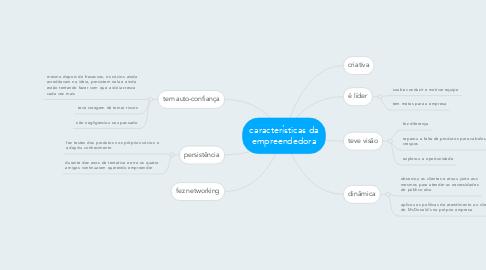Mind Map: características da empreendedora
